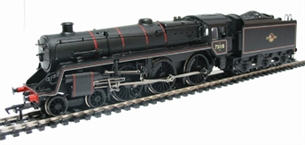 """32-506 Standard class 5MT 73110 """"The Red Knight"""" & BR1f tender in BR lined black with late crest"""