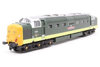 32-525A-PO06 Class 55 Deltic 55002 'The Kings Own Yorkshire Light Infantry' in BR Green - Pre-owned - DCC fitted, slightly noisy runner, missing some glazing from sides