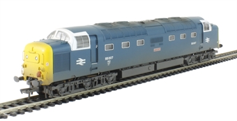 32-532 Class 55 55007 'Pinza' in BR Blue with Finsbury Park White Cab windows - weathered