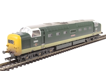 32-533 Class 55 Deltic D9001 'St. Paddy' in BR green with full yellow ends - weathered