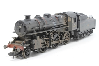32-580-PO05 Ivatt Class 4 2-6-0 43019 & tender in BR lined black with late crest (weathered) - Pre-owned - Like new
