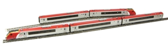 32-627Unboxed Class 221 Voyager 5 car DEMU 'Doctor Who' in 'Virgin Trains' livery - Unboxed