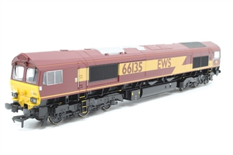 32-725-PO17 Class 66 66135 in EWS Livery - Pre-owned - minor mark on roof