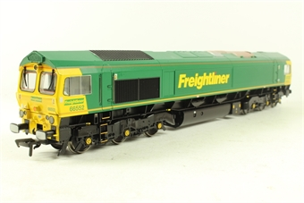 32-725Y Class 66 66552 'Maltby Raider' in Freightliner Green & Yellow Livery- Limited Edition for Rails of Sheffield Model Centre