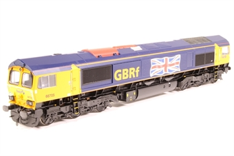 32-727Y Class 66 66705 in First GBRF Blue & Yellow Livery with 'Large Union Flag Logo' - Limited Edition for Kernow Model Rail