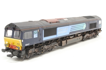 32-731-PO07 Class 66 66407 in DRS Livery - Pre-owned - weathered