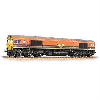 "32-739 Class 66/4 66413 ""Lest We Forget"" in Freightliner G&W orange"