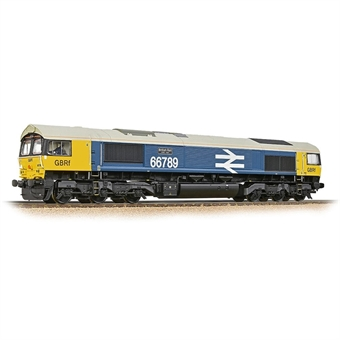 """32-740SF Class 66/7 66789 """"British Rail 1948-1997"""" in BR large logo blue with GBRf branding - Digital sound fitted"""