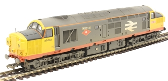 "32-775SD Class 37/0 37032 ""Mirage"" in Railfreight Red Stripe grey - Limited Edition for East Midlands and Anglian Bachmann retailers"