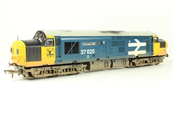 """32-780W Class 37/0 37025 """"Inverness TMD"""" in BR large logo blue - Rails of Sheffield Ltd Ed"""