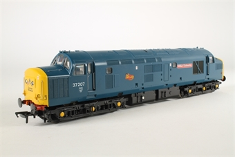 32-780Z Class 37/0 37207 'William Cookworthy' in BR Blue with Cornish Emblems & Split Headcode