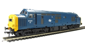 32-781 Class 37/0 37251 in BR Blue with Centre Head Code and Bufferbeam Skirts