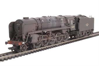 32-858 Class 9F 2-10-0 92189 in BR black with late crest & BR1F tender - weathered