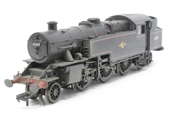 32-879-PO06 Class 4MT Fairburn 2-6-4 tank 42267 in BR lined black with late crest (weathered) - Pre-owned - Like new