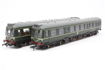 32-900A-PO11 Class 108 2 car DMU BR green with speed whiskers.- Pre-owned - detailed with replacement destination boards (Barmouth, Pweleli) £100