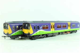 "32-925K Class 150/1 2 Car DMU 150123 ""Richard Crane"" in Silverlink Livery-Bachmann Collectors club ltd edn"