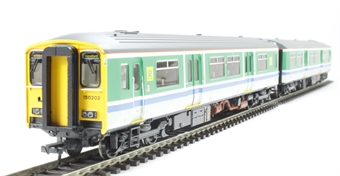 32-937 Class 150/2 2 car DMU 150202 in Regional Railways Centro blue stripe livery.