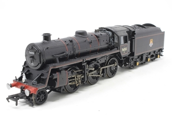 32-950-PO13 Standard class 4MT 2-6-0 76053 & BR1B tender in BR black with early emblem - Pre-owned -imperfect box