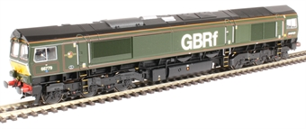 "32-983 Class 66/7 66779 ""Evening Star"" in BR green with GBRF branding"
