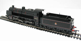 32-161 Class N 2-6-0 31862 & slope sided tender in BR black with early emblem