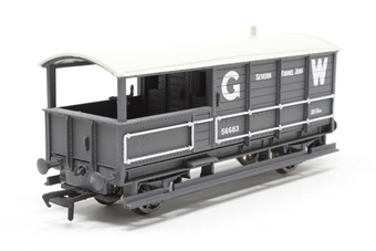 33-300B-PO10 20 Ton Toad Brake Van 56683 in GWR Grey Livery - Seven Tunnel Jnc - Pre-owned -  imperfect box