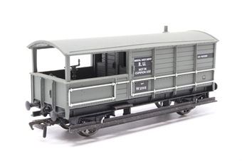 33-306-PO08 20 ton toad brake van in BR light grey livery - Pre-owned - Like new