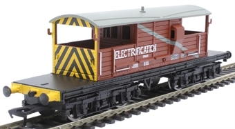 33-825Y 25 ton Queen Mary brake van LDS56293 in BR bauxite with Electrification branding - Limited Edition for Kernow Model Rail Centre