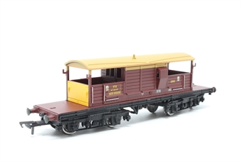 33-830-PO02 25 Ton Queen Mary Brake Van ADS56299 in EWS Red & Yellow Livery - Pre-owned - Like new