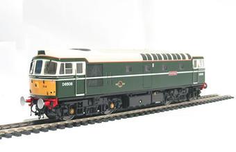 "3301 Class 33/0 diesel ""Eastleigh"" D6508 in BR green"