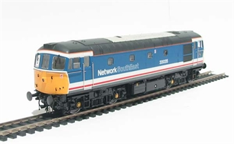 3302 Class 33/0 diesel 33035 in Network South East revised livery