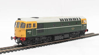 3310 Class 33/0 diesel D6553 in BR green with full yellow ends
