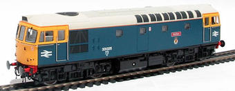 "3312 Class 33/0 diesel 33025 ""Sultan"" in BR blue with grey roof"