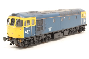 3313-PO01 Class 33/0 diesel 33004 in BR blue - Pre-owned - DCC sound fitted - weathered - coupling pockets removed
