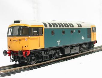 3314 Class 33/0 diesel 33012 in BR blue