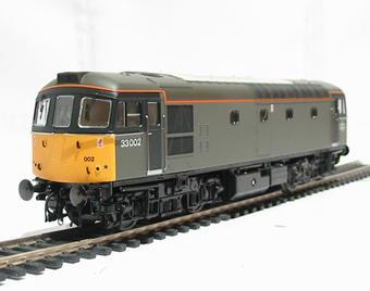 3317 Class 33/0 diesel 33002 in Departmental grey livery