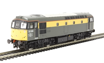 "3327 Class 33/2 33208 in BR engineers ""Dutch"" grey & yellow"