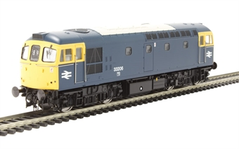 3329 Class 33/2 33206 in BR Blue with full yellow ends