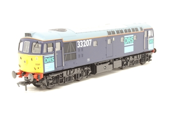 3331-PO01 Class 33/2 diesel 33207 in DRS livery - Pre-owned - lights don't work at one end, imperfect box