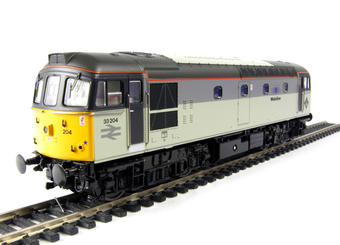 3333 Class 33/2 diesel 33204 in Railfreight Triple Grey livery with Mainline branding