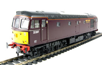 3335 Class 33/2 diesel 33207 in West Coast Railway Company Maroon livery