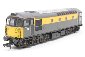 "3342-PO02 Class 33/1 diesel 33108 in Civil Engineers ""Dutch"" livery - Pre-owned - DCC Sound-fitted"