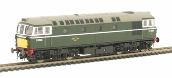 3346 Class 33/1 Diesel D6580 in BR Green with small yellow panels.