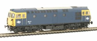 3347 Class 33/1 Diesel 33117 in BR Blue with full yellow ends.