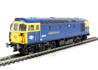 """3353 Class 33/1 diesel 33116/D6535 in BR Blue """"Hertfordshire Rail Tours"""" (as during 1990's)"""