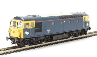 3356 Class 33/1 33102 in BR Blue with full yellow ends