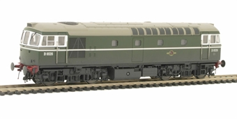 3363 Class 33/0 diesel D6526 in BR plain Green livery (weathered).