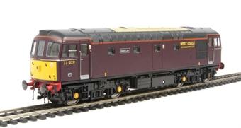 """3371 Class 33/0 33029 """"Glen Loy"""" in West Coast Railways livery"""