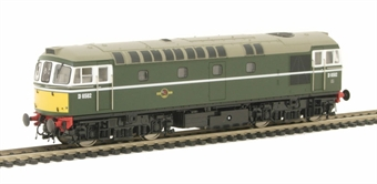 3380 Class 33/0 Diesel D6582 in BR green with small yellow panels.