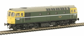 3381 Class 33/0 D6563 in BR Green with full yellow ends.