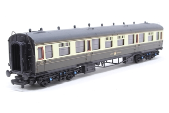 34-050A-PO01 60ft. Collett 3rd Class Corridor Coach 1104 in Great Western Chocolate & Cream Livery - Pre-owned - Like new